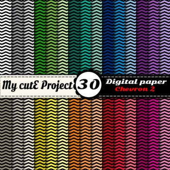 Chevron 2 - DIGITAL PAPER - Instant Download - Scrapbookin