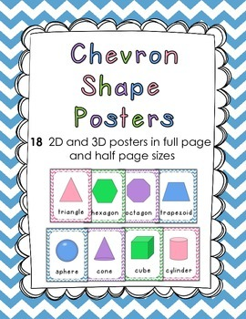 Chevron 2 and 3D Shape Posters