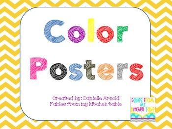 Chevron 2D Shape and Color Poster Bundle