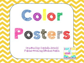 Chevron 2D Shape and Color Poster Bundle