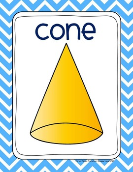 Chevron Plane & Solid Shapes Poster Set (Math, Geometry)