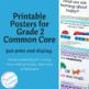 Common Core Standards Posters: ELA Standards Grade 2 | Chevron