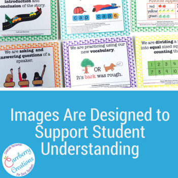Common Core Standards Posters for 2nd Grade ELA | Polka Dots Theme