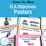 Common Core Standards Posters for 2nd Grade ELA | Polka Do