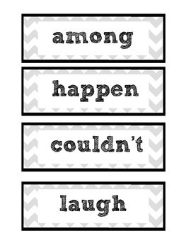 Chevron 3rd Grade Word Wall Word [PLUS Other Words for...]