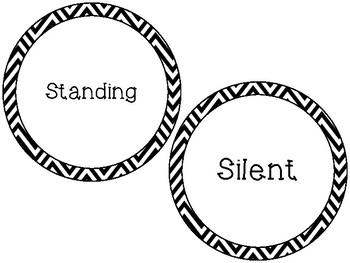 Chevron 4s Line 5s Line Circles