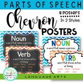 Grammar Posters l Parts of Speech Posters l Chevron Theme Classroom Decor