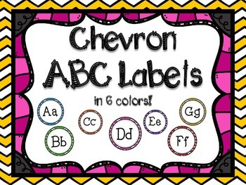 Chevron ABC Labels for Word Walls & Classrooms