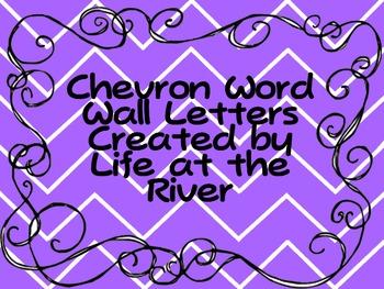 Chevron ABC Letters