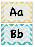 Chevron ABC Wall Letters