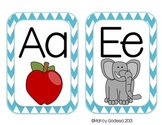 Chevron ABC Word Wall Headers