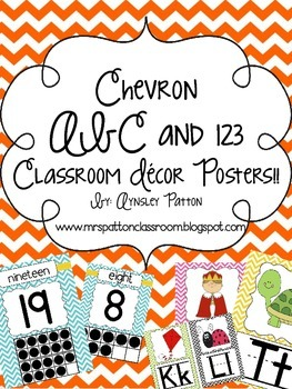 Chevron ABC and 123 Classroom Decor Posters!