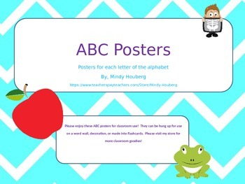 Chevron ABC posters