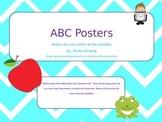Chevron ABC posters