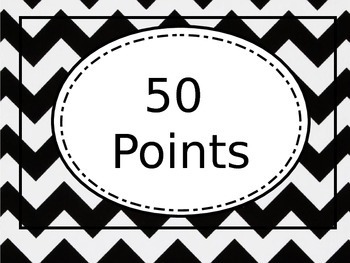 Chevron AR Point Chart Black and White (editable)