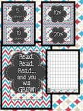Chevron AR Reading Tracker with Student Data Graph
