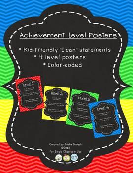 Chevron Achievement Level Posters