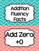 Addition Fluency Clip Chart in Chevron (Supports Common Co