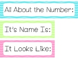Chevron All About the Number Bulletin Board Labels. Classroom Accessories.