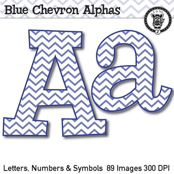Chevron Alpha Clip Art Bundle! - 623 images