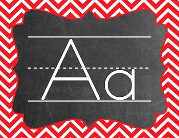 Chevron Alphabet (A-Z) - Primary Colors