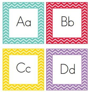 Chevron Alphabet And Number Cards Freebie