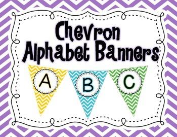 Chevron Alphabet Banners A-Z