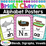 Chevron Alphabet and Phonics Posters | Linking Charts