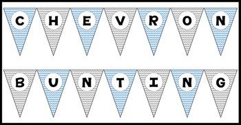 Chevron Alphabet Bunting