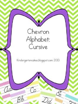 Chevron Alphabet Cursive