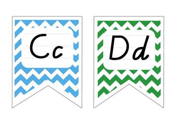 Chevron Alphabet Display