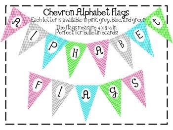 Chevron Alphabet Flags