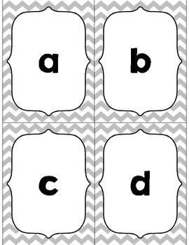 Chevron Alphabet Flashcards