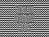 Chevron Alphabet Letter Cards (Black) - Word Wall, Classro