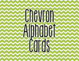 Chevron Alphabet Letter Cards (Green) - Word Wall, Classro