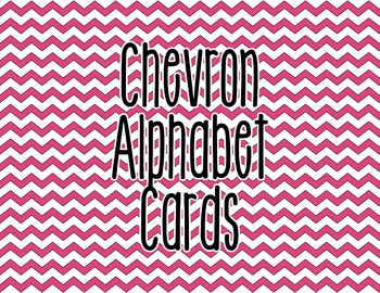 Chevron Alphabet Letter Cards (Pink) - Word Wall, Classroom Decor