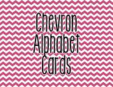 Chevron Alphabet Letter Cards (Pink) - Word Wall, Classroom Decor
