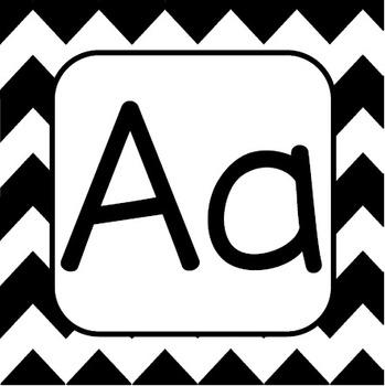 Chevron Alphabet Letter Cards Print