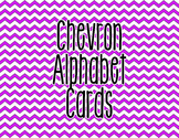 Chevron Alphabet Letter Cards (Purple) - Word Wall, Classr