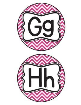 Chevron Alphabet Letters