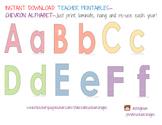 Chevron Alphabet Letters Printable