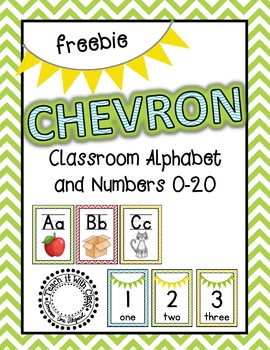 Chevron Alphabet & Numbers {Freebie}