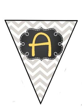 Chevron Alphabet Pennant