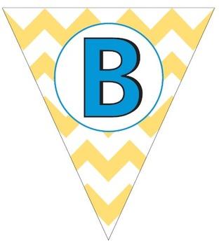 Chevron Alphabet Pennant Banner Letters