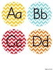 Chevron Alphabet Posters {Yellow, Turquoise, Red, Green, a