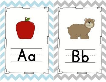 Chevron Alphabet Posters (1/2 sheet)