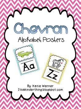 Chevron Alphabet Posters