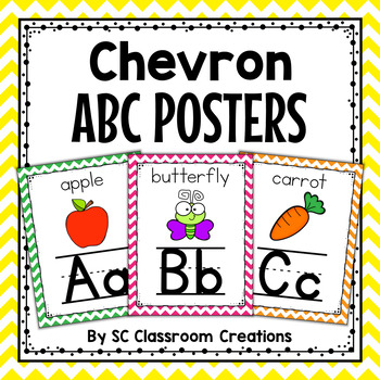 Chevron Alphabet Posters-Classroom Decor