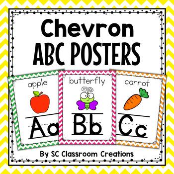 Chevron Alphabet Posters-Classroom Decor