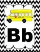 Chevron Alphabet Posters- Black